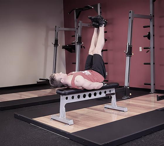 Подъем согнутых ног лежа на спине — SportWiki энциклопедия