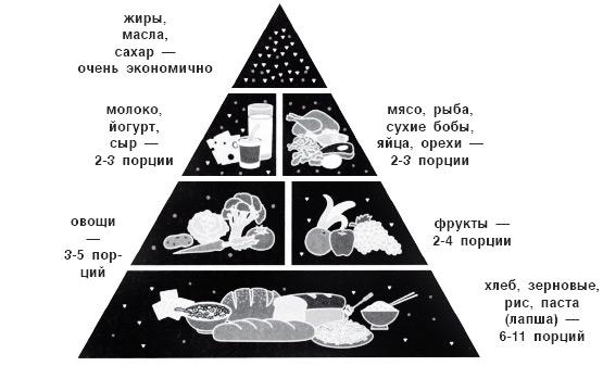 Японская пирамида здорового питания