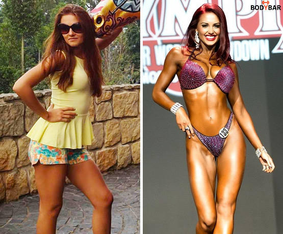 Ольга Блохина, фитнес-бикини, фото до и после